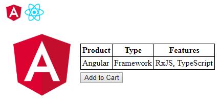 angular app web with web component