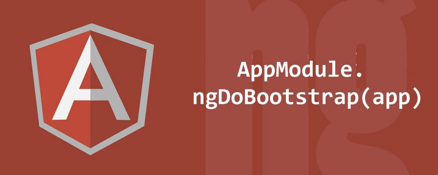 How to manually bootstrap an Angular application